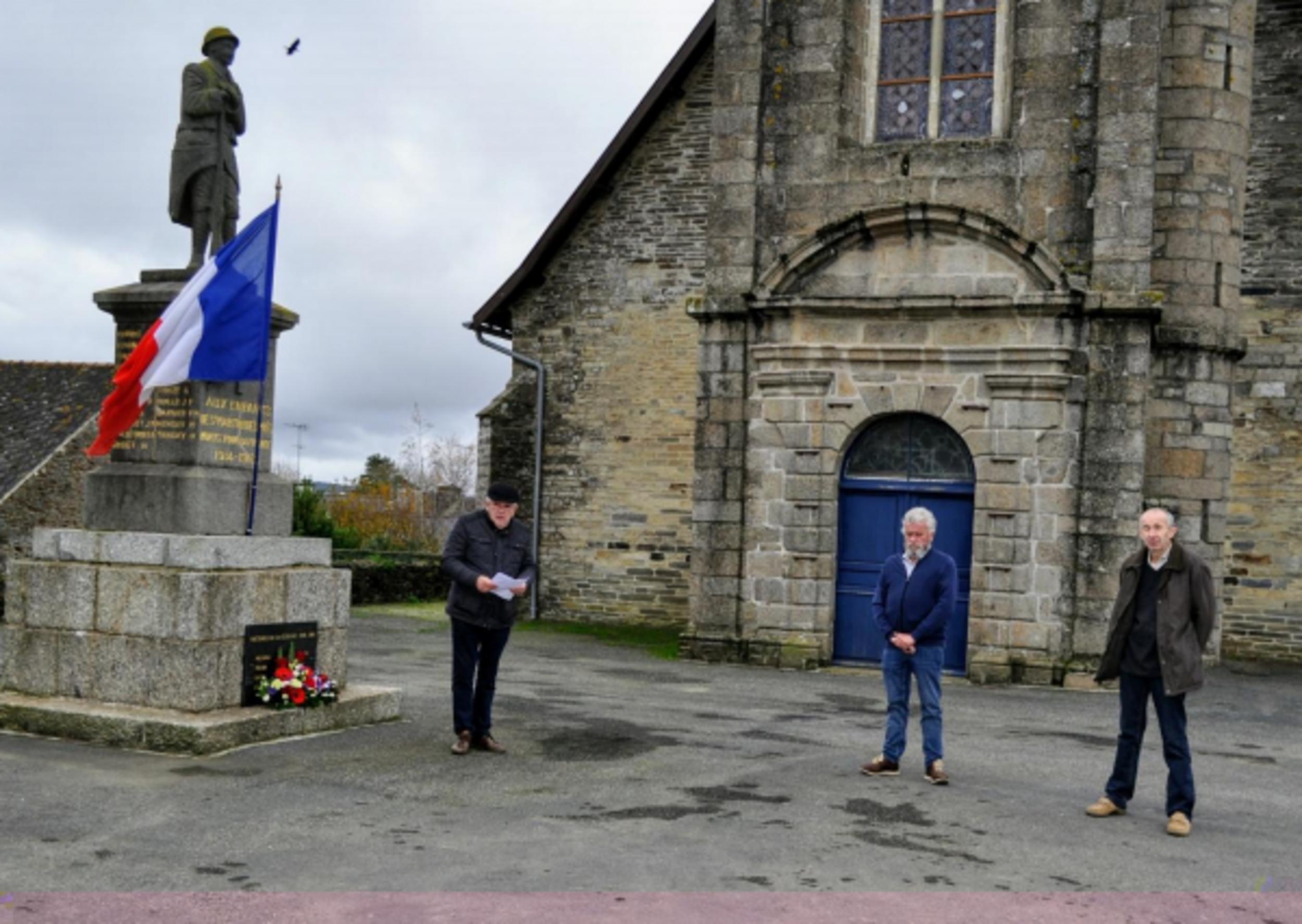 Commémoration de l'Armistice de 1918 à Saint Martin des Prés