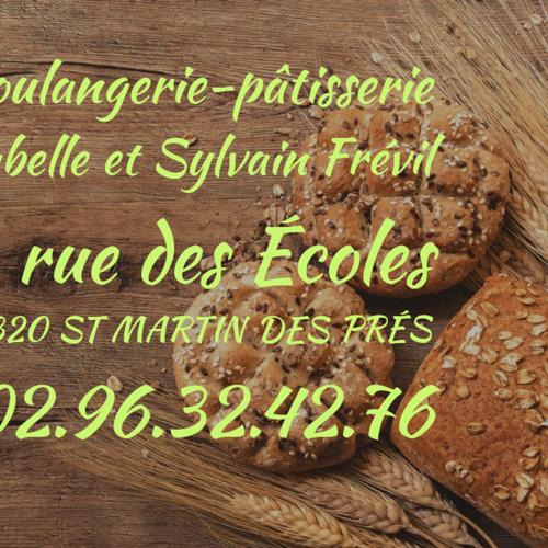 St Martin des Prés : Boulangerie - pâtisserie Frévil