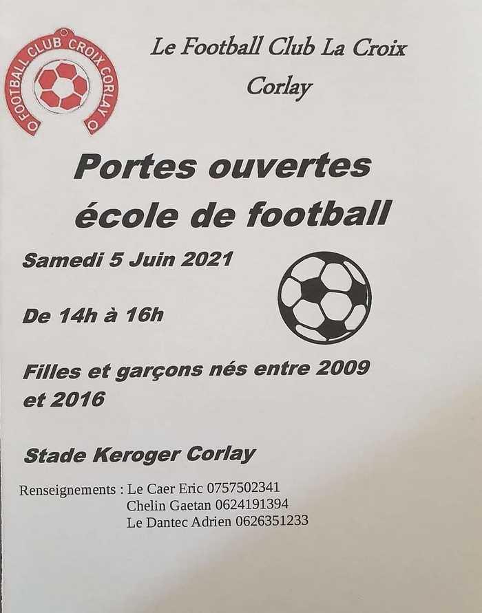 Portes ouvertes - 5 juin 2021École de foot - club La Croix - Corlay 0