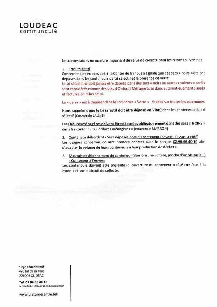 COLLECTE DES ORDURES MÉNAGÈRES ET DU TRI SÉLECTIF fbimg1625236448270